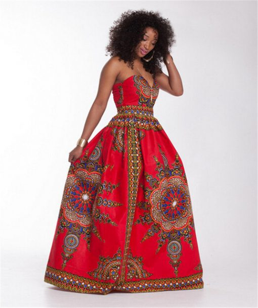 long dashiki dress