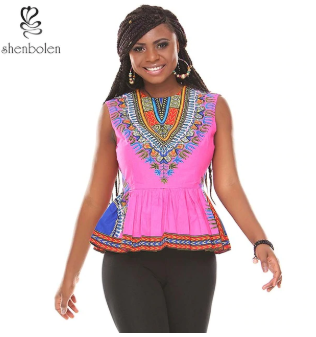 Dashiki crop tops