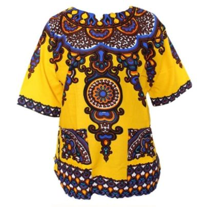 Womens Dashiki Tshirt Yellow