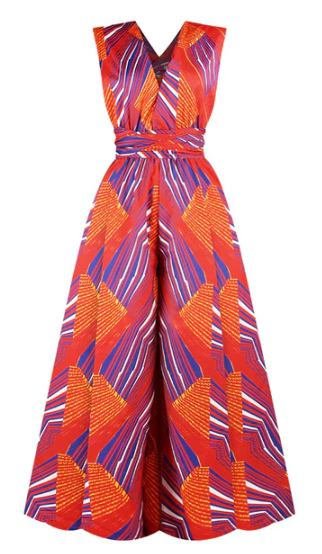 New African Jumpsuit with Multi-Wear Style for Women 2