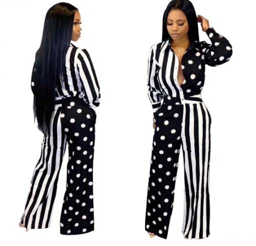 Cheap Long Sleeve Printed African Jumpsuit 3