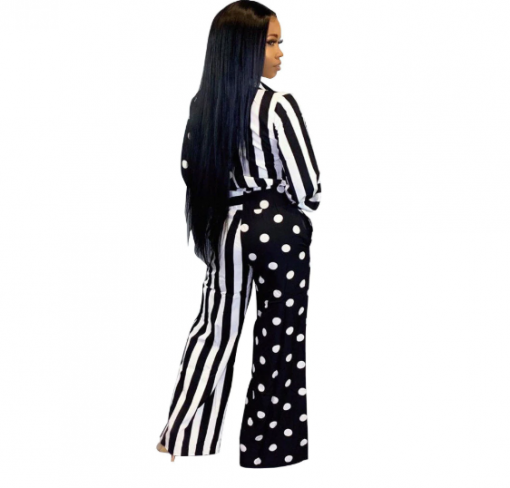 Cheap Long Sleeve Printed African Jumpsuit 2