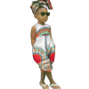 African Style Sleeveless Jumpsuit for Girl 4